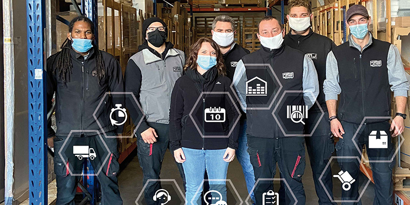 Equipe de distribution chez MJ Logistics